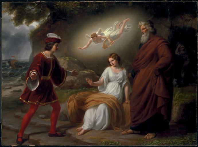 The meeting of Ferdinand and Miranda with Prospero (W. E ...